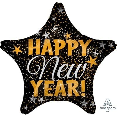 Balão estrela Happy New Year