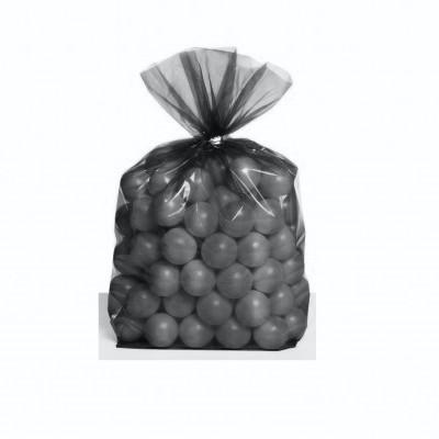 25 Sacos Oferta Transparente Cinza
