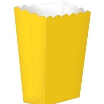 Caixas de pipocas amarelo