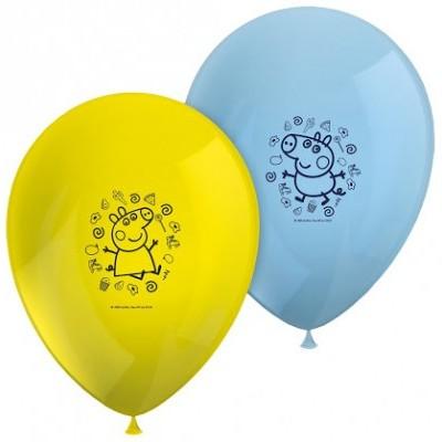 8 balões latex porca peppa