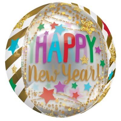 Balão Orbz Happy New Year