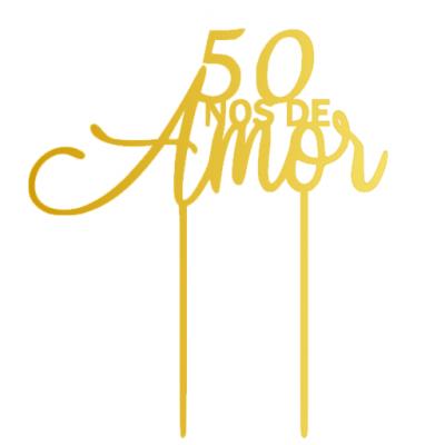 Topo de bolo 50 anos de amor