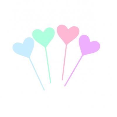 10 Topos Cupcake corações pastel
