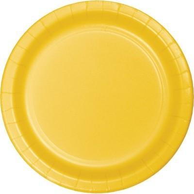 8 pratos amarelo