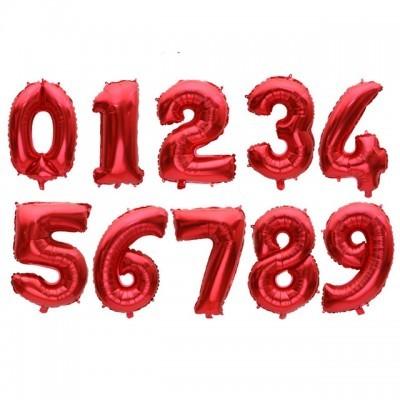 """Números 34"""" vermelho"""