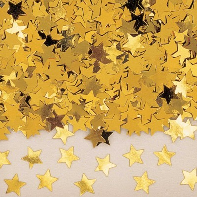 Confetti estrelas douradas