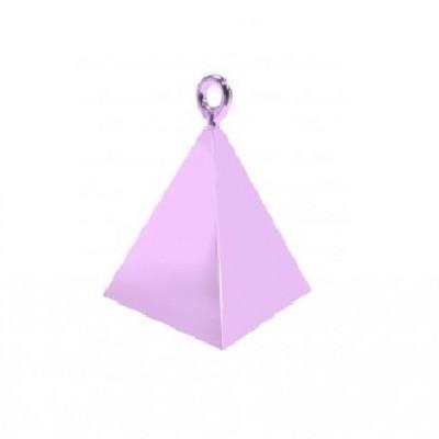 Peso pirâmide para balões rosa bebé