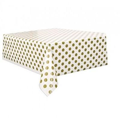 Toalha de mesa bolas ouro
