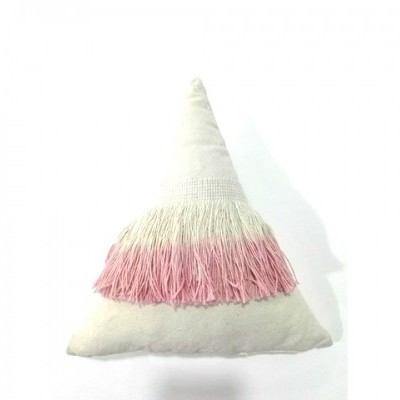 Almofada franja rosa