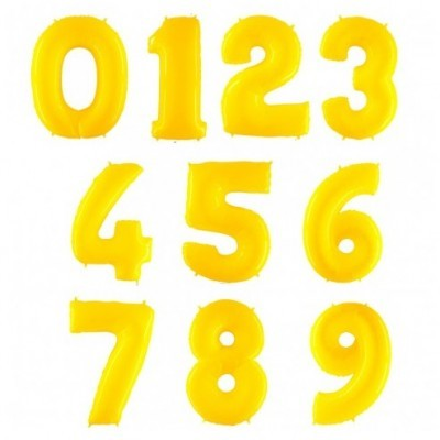 """Números 40"""" Amarelos"""