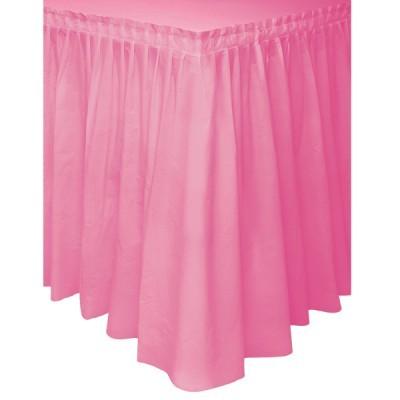 Saia de mesa rosa