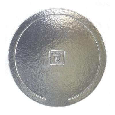 Disco redondo prata elegante 26cm
