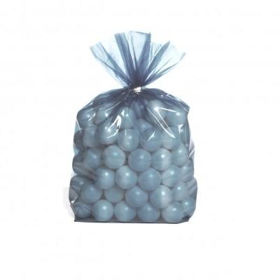 25 Sacos Oferta Transparente Azul Bébé