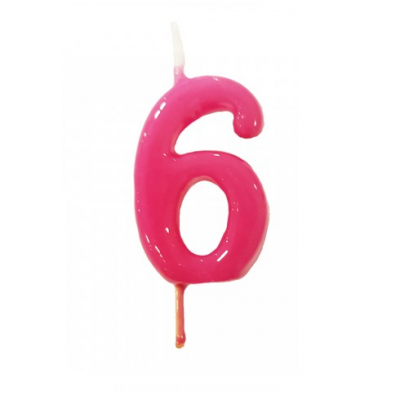 Vela Nº Rosa fushia -6cm