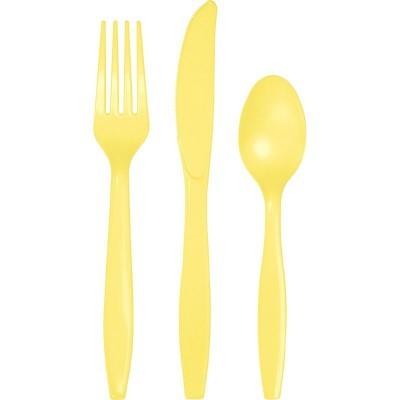 Set de 24 talheres amarelo