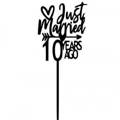 Topo de bolo Just Married data