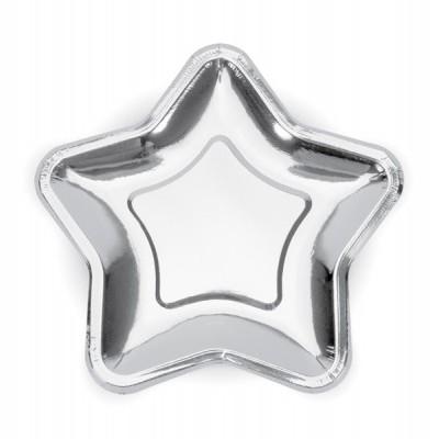 Pratos Estrelas prata S
