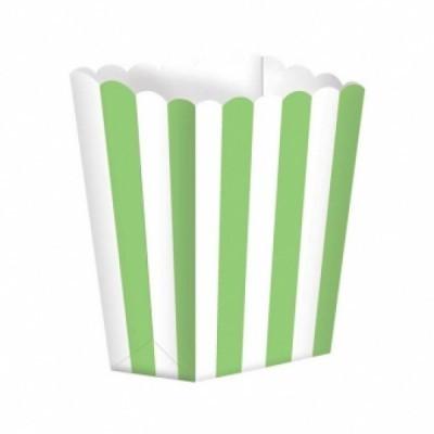 Caixas de pipocas verde lima