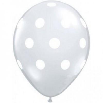 Balões Bolinhas Brancas transparente