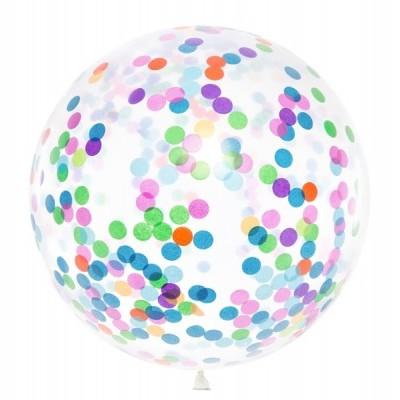 Balão confetti colorido