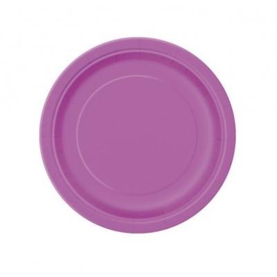 20 pratos roxo 18cm