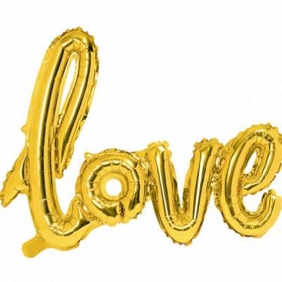 Balão foil love ouro