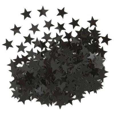Confetti estrelas pretas