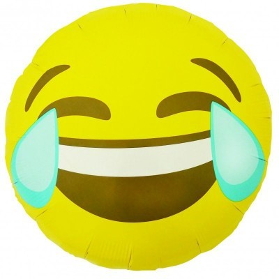 Emoji Crying Laughing Round 46cm