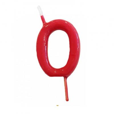 Vela Nº Vermelho -6cm