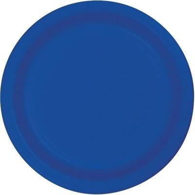 16 Pratos azul cobalto 23cm