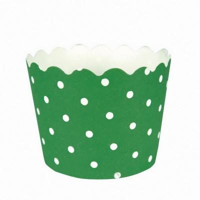 formas muffins verde bolas