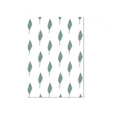 Postal padrão folhas