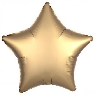 Balão Estrela Dourado Mate  46cm