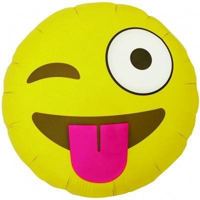 Emoji Winking Round 46cm