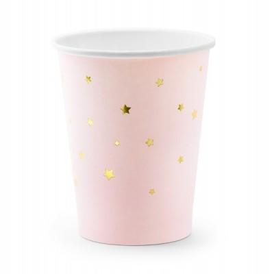 Copos little star rosa bebé