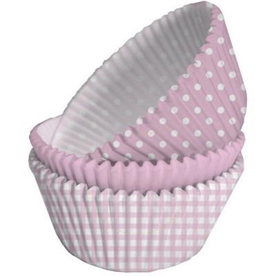 formas cupcake rosa bebé