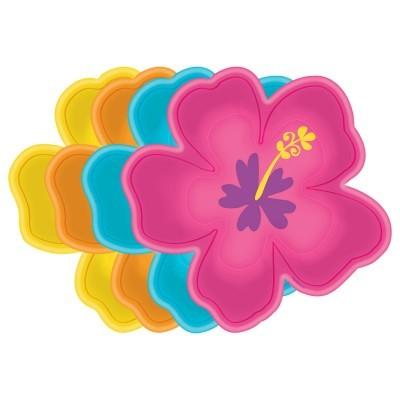 8 Pratos flor havaiana