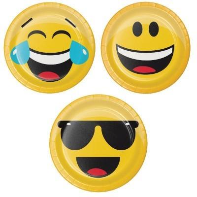 Pratos emoji 18cm