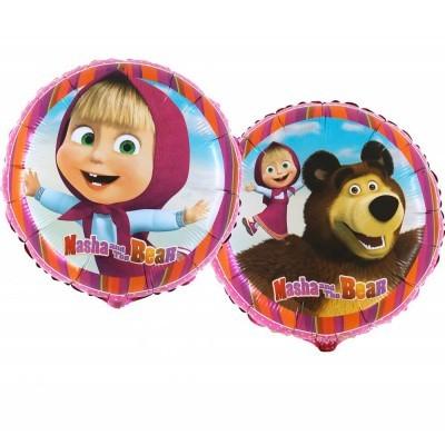 Balão foil masha e o urso