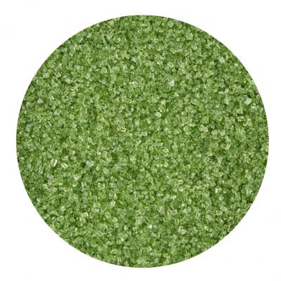 Cristais de açúcar verde