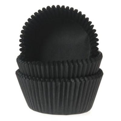 Formas Mini Cupcake Preto 100und