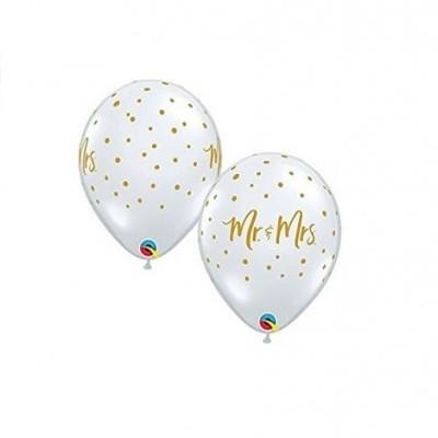 Balão Mr&Mrs transparente