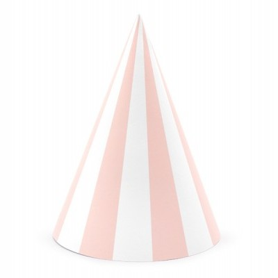 6 chapéus rosa bebé