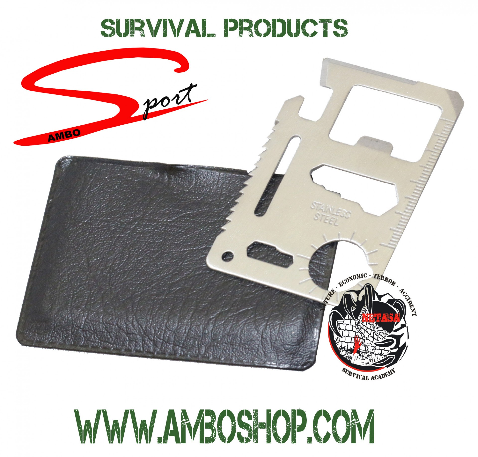 Survival Multi Tools Card