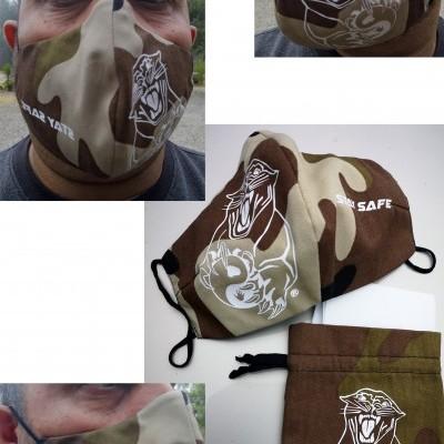 """Mascaras """"PROFISSIONAL""""  ACDS Military com filtros e saco"""