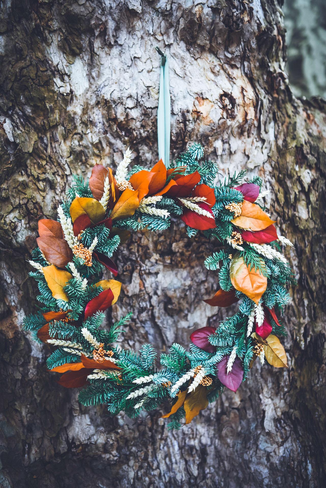 Coroa de Natal Folhas