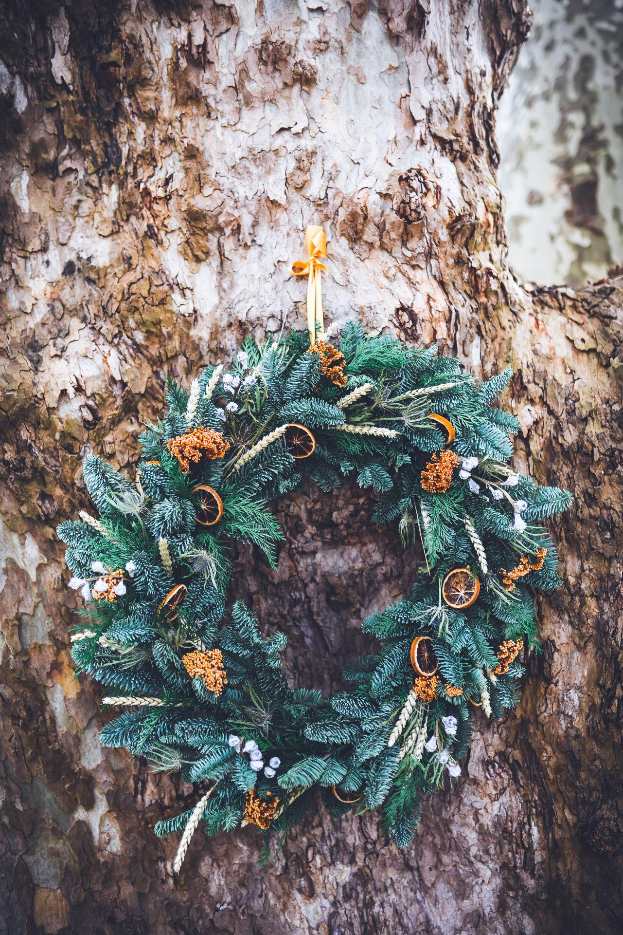 Coroa de Natal Laranjas