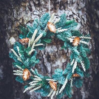 Coroa de Natal Flores Secas