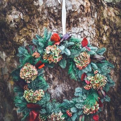 Coroa de Natal Hortenses