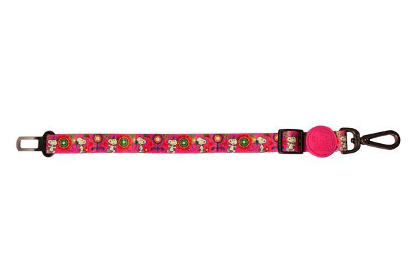 Cinto de Segurança Pink Flower Oficial Snoopy
